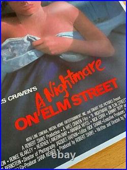 1984 A Nightmare On Elm Street Orig Horror Movie Poster Linen Backed Stunner