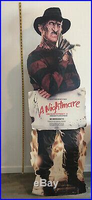 1986 FREDDY KRUEGER Standee Nightmare On Elm Street 2 Freddys Revenge VHS vtg