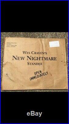 1995Wes Craven NEW NIGHTMARE(On Elm Street)Lifesize FREDDY KRUEGER Video Standee