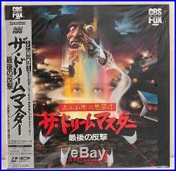 4 Laserdisc Nightmare on Elm Street 1 (2, 3, 4 New) Japan LD