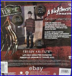 6 Ft LIFE-SIZE Animated FREDDY KRUEGER Nightmare on Elm Street by GEMMY NIB