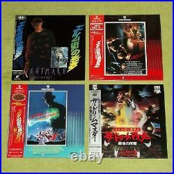 A NIGHTMARE ON ELM STREET 1, 2, 3 & 4 Uncut Horror JAPAN 4 x LASERDISC SET