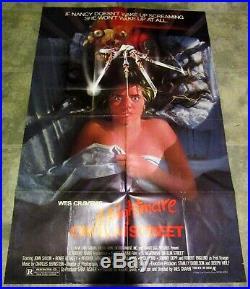 A NIGHTMARE ON ELM STREET 1984 Original Movie Poster 41x27 HORROR 1-SHEET