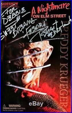 A NIGHTMARE ON ELM STREET Freddy Krueger 12 Figure Sideshow Sealed Signed