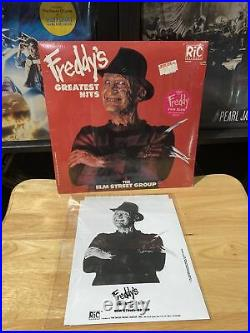 A NIGHTMARE ON ELM STREET Freddys Greatest Hits 1987 LP NEW SEALED + Promo Card