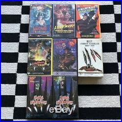 A Nightmare On Elm Street 1,2,3,4,5,6 + Freddys Nightmares VHS Ex Rental