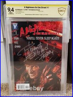 A Nightmare On Elm Street 1 CBCS 9.4 Signed by Robert Englund DC Like CGC