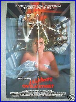 A Nightmare On Elm Street 1984 Original Movie Poster Fred Krueger Halloween Nm-m