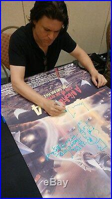 A Nightmare On Elm Street 4 CAST SIGNED Movie Poster Robert Englund EXACT PROOF
