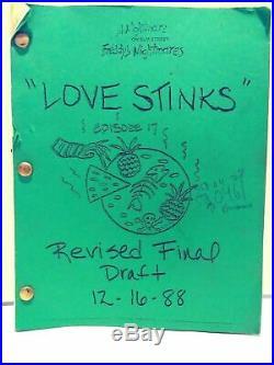 A Nightmare On Elm Street Freddy's Nightmares Love Stinks Shooting Script 1988