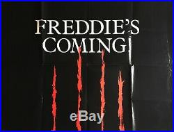 A Nightmare On Elm Street Rare Style A Teaser Quad Poster 1984 Wes Craven