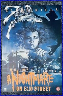 A Nightmare On Elm Street Video Poster 1984 Rolled Rare Original