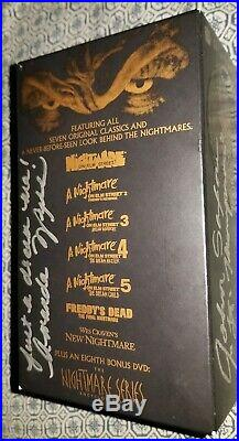 A Nightmare on Elm Street Collection AUTOGRAPHED 8 DVD SET with 3D Glasses