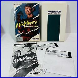 A-Nightmare-on-Elm-Street-Monarch-Computer-Game-Freddy-RARE-IBM-Tandy-DOS-01-oj