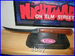Case XX P210 Knife with Display Stand Freddy Glove Nightmare Elm Street