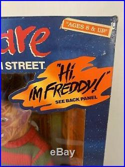 FREDDY KRUEGER A NIGHTMARE ON ELM STREET 1989 TALKING DOLL 18 Matchbox NIB Rare