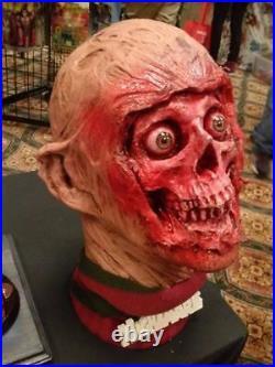 FREDDY KRUEGER NIGHTMARE ELM street horror resin BUST on stand