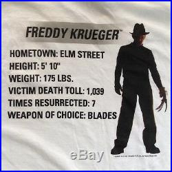 FREDDY VS JASON vtg t shirt NOS Friday the 13th A Nightmare On Elm Street horror