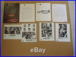 Freddy Krueger / A Nightmare On Elm Street 4 Press Kits 2 X Part 4 & Part 5