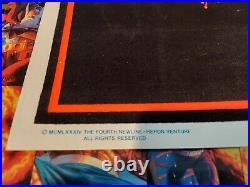 Freddy Krueger Blacklight Poster A Nightmare On Elm Street Rare 80's