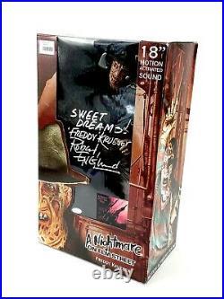 Freddy Krueger Signed 18 Action Figure Nightmare On Elm Street Robert Englund