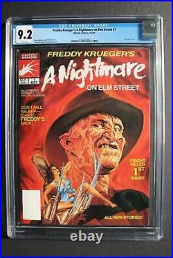 Freddy Krueger's A Nightmare on Elm Street #1 Marvel 1st COMIC 1989 CGC NM- 9.2