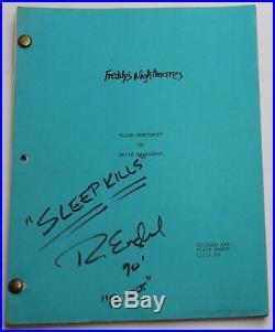 Freddy's Nightmares TV Script Nightmare on Elm Street SIGNED by ROBERT ENGLUND