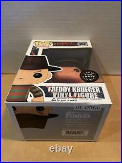 Funko Pop! A Nightmare On Elm Street #02 Freddy Krueger Glow Chase WithHard Stack