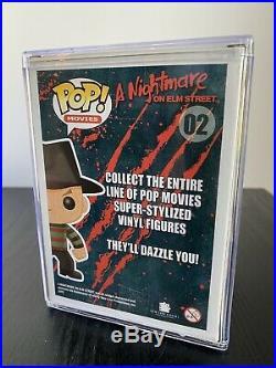 Funko Pop Freddy Krueger #02 CHASE GLOW Movies A Nightmare On Elm Street RARE