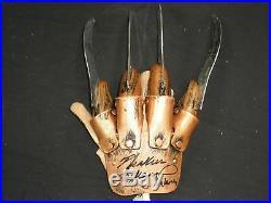 HEATHER LANGENKAMP Signed Nightmare on Elm Street FREDDY GLOVE Nancy BAS BECKETT
