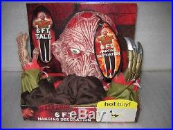 HTF New Halloween Nightmare Elm Street Freddy Krueger 6' Hanging Prop Decor