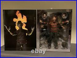 NECA A Nightmare On Elm Street Figures. Freddy Krueger. 4 Figures. Parts 1-3