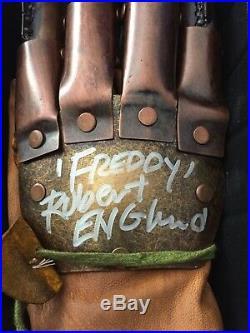 NECA Nightmare Elm Street FREDDY KRUEGER Glove Signed ROBERT ENGLAND Autograph