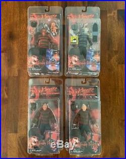 NECA Nightmare on Elm Street 1,2,3,4,5,6 Freddy Krueger Horror Figure Lot (10)