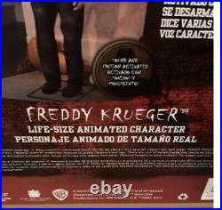 NIB Gemmy Halloween A Nightmare on ElmStreet LIFE-SIZE Animated FREDDY KRUEGER