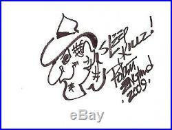 NIGHTMARE ELM STREET drawn & signed 12x8 ROBERT ENGLUND