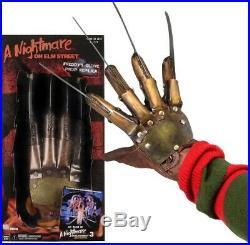 NIGHTMARE ON ELM STREET 3 Freddy Krueger Prop Replica Glove (NECA) #NEW