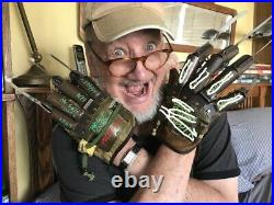 Neca Nightmare On elm Street Freddy Glove Signed With Coa Metal
