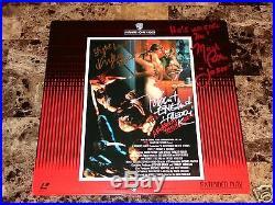 Nightmare On Elm Street 2 Rare Cast Signed Laserdisc Horror Movie Freddy Krueger