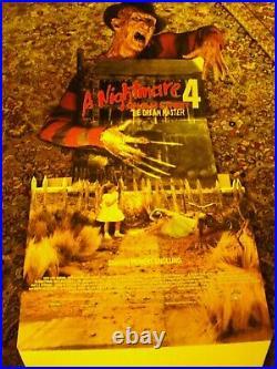 Nightmare On Elm Street 4 Dream Warrior Video Standee Rare Freddy Halloween