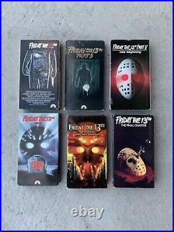 Nightmare On Elm Street And Friday The 13th VHS Tapes Bundle Lot Of 13 Tested