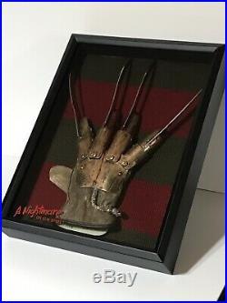 Nightmare On Elm Street Freddy Glove Prop Replica Horror Movie Display In Frame