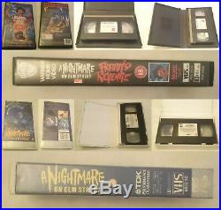 Nightmare On Elm Street & Freddy's Nightmares Big Box VHS Video Tape Ex Rental