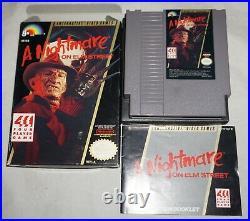 Nightmare On Elm Street (Nintendo NES) Complete in Box GREAT Shape