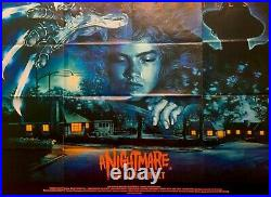 Nightmare On Elm Street Original Uk Quad Film Poster 1984