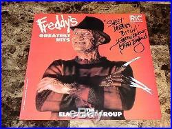Nightmare On Elm Street SIGNED Freddy Krueger Vinyl LP Record Robert Englund COA