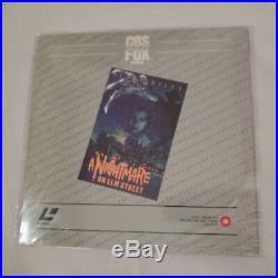 Nightmare On Elm Street UNCUT UNRATED VERSION ULTRA RARE UK LASERDISC