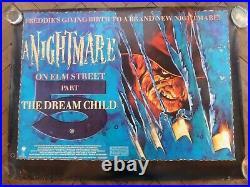 Nightmare on Elm Street 5 (1989) Quad Humphrey's art Jaz Coleman Killing Joke