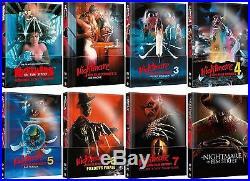 Nightmare on Elm Street alle 8 Teile im wattiertem Mediabook Uncut Neu