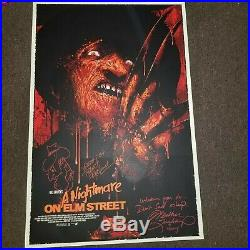 Nightmare on Elm Street by Vance Kelly Print Mondo signed by Robert and Heather